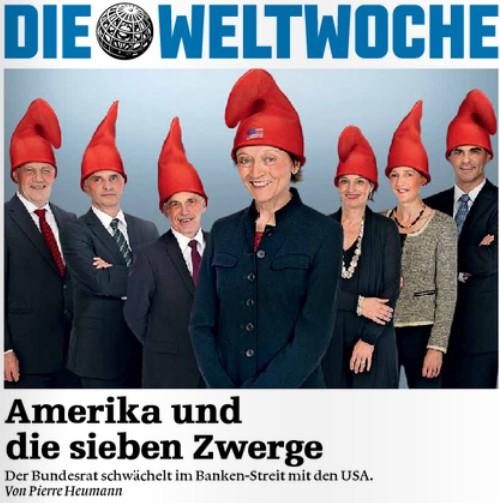 Amerika und die sieben Zwerge (Titelbild der Weltwoche, Ausgabe 05/2012, 02.02.2012)